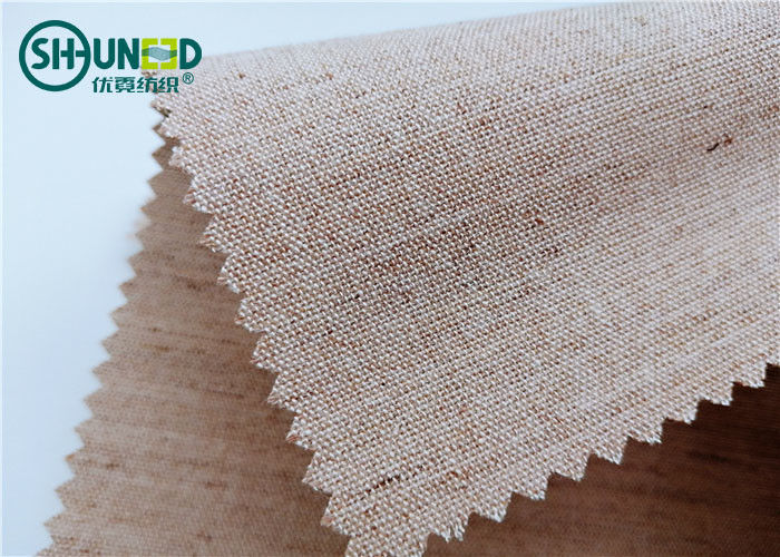 Woven Hair Bow Canvas Cotton Polyester Interlining 260gsm Lining For Garment Uniform Suit